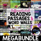 Differentiated Nonfiction Reading Passages & Word Walls - Science Bundle