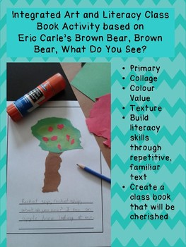 Integrated Art and Literacy Class Book based on Brown Bear... by Eric Carle