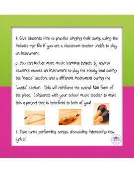 Integrated Arts Lesson: Wants and Needs song