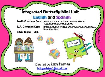 Integrated Butterfly MiniUnit-Math-LA-Science-Bilingual St