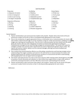 Integrated CCSS & ELPA21 Starter Lesson Plan for Grade 3 (Listening & Reading)