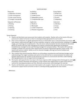 Integrated CCSS & ELPA21 Starter Lesson Plan for Grade 8 (Listening & Reading)