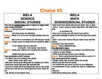 Integrated Choice Board Activities