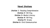 Integrated Curriculum - NOVEL STATIONS for any book