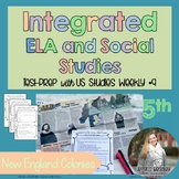 Integrated ELA FSA Practice with Social Studies; New England Colonies
