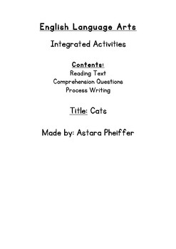 Integrated Language Arts Activities Based on a Non-Fiction Text