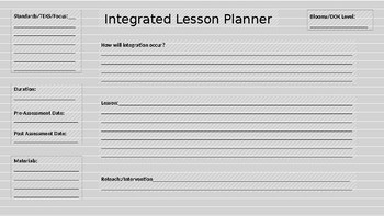 Integrated Lesson Layout