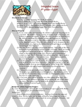 Integrated Lesson Outline - Ancient Egypt