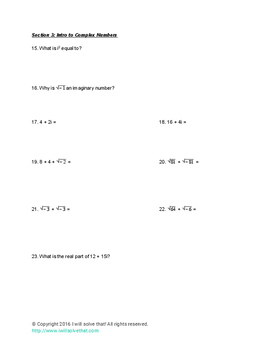 Integrated Math 2 Unit 1 Practice with Key
