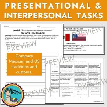 Integrated Performance Assessment IPA Spanish Family Unit Exam