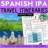 Integrated Performance Assessment IPA Spanish Travel Unit Exam