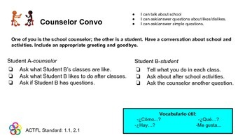 Spanish Guided Speaking Activities: Levels 1-3