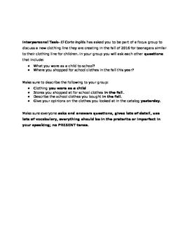 Integrated Performance Assessment- La Ropa- El Corte Ingles