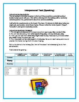Integrated Performance Assessment - Sports Unit