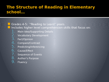 Integrated Reading Instruction for Middle School Students