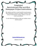 Integrated Revolutionary War and ELA Newspaper Project Ins
