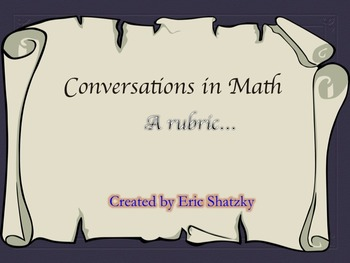 Conversations in Math - Integrated Rubric