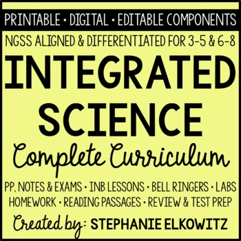 Integrated Science Complete Curriculum (NGSS Aligned)