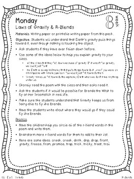 Integrated Science (Gravity) & R-Blends Mini Unit - First Grade