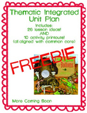 Integrated Unit Plan - Tops and Bottoms FREEBIE