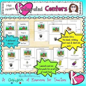 Integrated and Differentiated Reading Centers Farm Theme