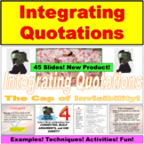 Integrating Direct Quotations PowerPoint Lesson