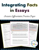 Integrating Facts in Essays Differentiated Practice