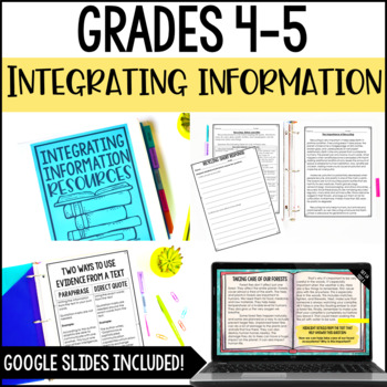 Integrating Information: Common Core Reading Unit {RI.4.9 and RI.5.9}