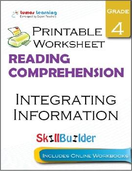 Integrating Information Printable Worksheet, Grade 4
