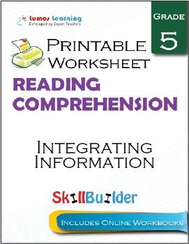 Integrating Information Printable Worksheet, Grade 5