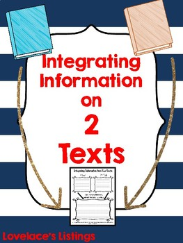 Integrating Information from Two Texts Graphic Organizer