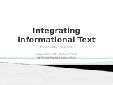 Integrating Informational Text