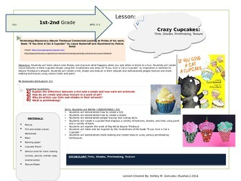 """Integrating Literature and Art- """"If You Give A Cat A Cupcake"""""""