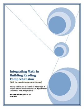 Integrating Math in Building Reading Comprehension (Using Compare and Contrast)