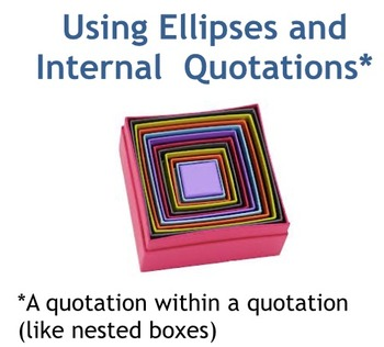 Integrating Quotatons--Using Ellipses and Handling Internal Quotations