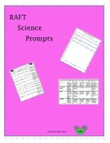 Integrating Science into Writing with R.A.F.T,  Prompts