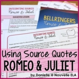 Using Quotes and Paraphrase in Literary Analysis - Romeo & Juliet by Shakespeare