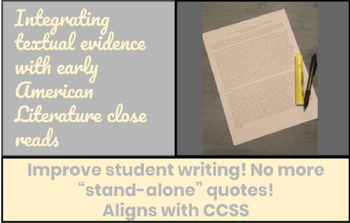 Integrating Textual Evidence Using Early American Literature