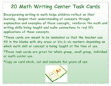 Integrating Writing in Math:  20 Task Cards