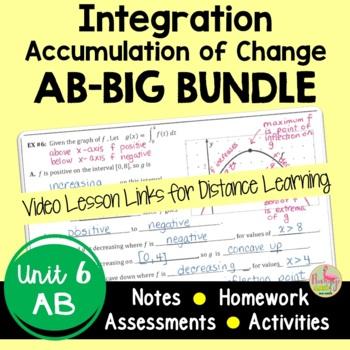 Integration Accumulation of Change BIG Bundle (Calculus - Unit 6)