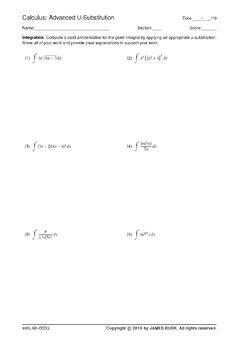 Integration - Advanced - U-Sub [Set 3]