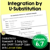 Calculus Integration by U-Substitution with Lesson Video (Unit 6)