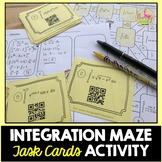 Calculus Integration Maze and Task Cards Activity (Unit 6)