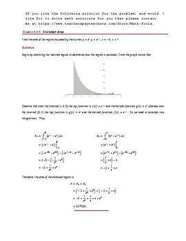 Integration Solution: Rotational Volumes and Enclosed Area