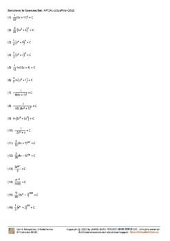 Integration - U-Substitution [Set 2]