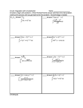 Integration Using Substitution #2 Circuit