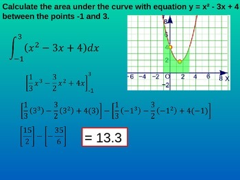Integration area under curves (Math 3 Pre-cal)