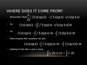 Integration by Parts - PowerPoint