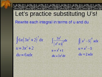 Integration by U-Substitution PowerPoint