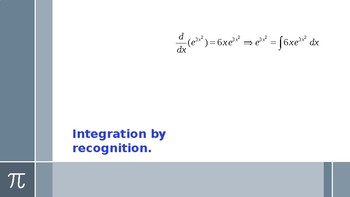Integration by recognition.